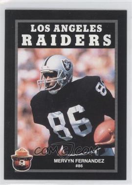 1991 Smokey Bear Los Angeles Raiders - [Base] #N/A - Mervyn Fernandez