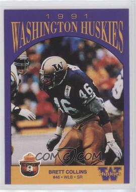 1991 Smokey Bear Washington Huskies - [Base] #N/A - Brett Collins