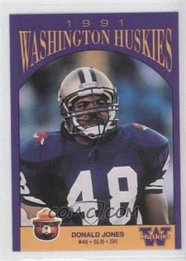 1991 Smokey Bear Washington Huskies - [Base] #N/A - Donald Jones