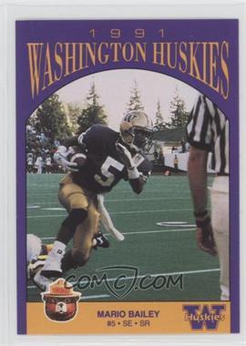 1991 Smokey Bear Washington Huskies - [Base] #N/A - Mario Bailey