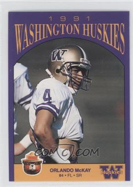 1991 Smokey Bear Washington Huskies - [Base] #N/A - Orlando McDaniel