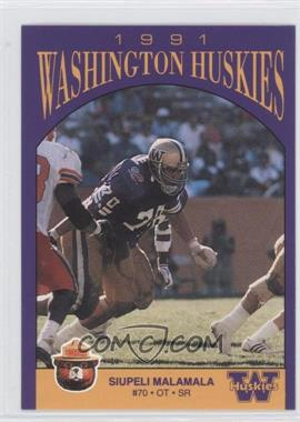 1991 Smokey Bear Washington Huskies - [Base] #N/A - Siupeli Malamala