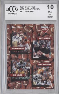 1991 Star Pics - [Base] #109 - Charles McRae, Nick Bell, Brett Favre, Alvin Harper [ENCASED]