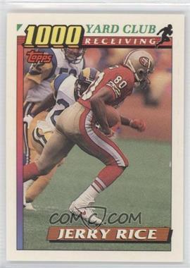 1991 Topps - 1000 Yard Club #1 - Jerry Rice