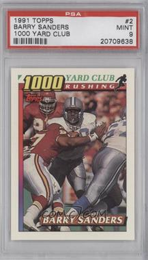 1991 Topps - 1000 Yard Club #2 - Barry Sanders [PSA 9]