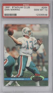 1991 Topps Stadium Club - [Base] #264 - Dan Marino [PSA 10]