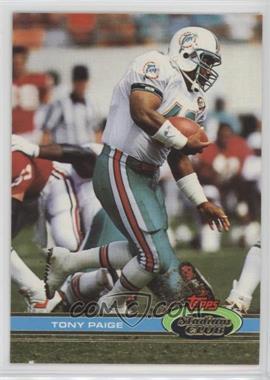 1991 Topps Stadium Club - [Base] #65 - Tony Paige