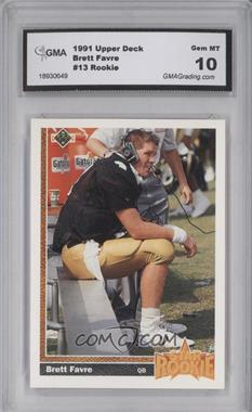 1991 Upper Deck - [Base] #13 - Brett Favre [ENCASED]