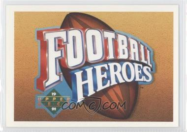 1991 Upper Deck - Football Heroes - Joe Namath #NoN - Joe Namath