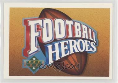 1991 Upper Deck - Football Heroes - Joe Namath #NoN - Joe Namath