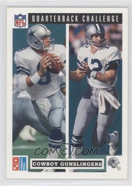 1991 Upper Deck Domino's Pizza Quarterback Challenge - [Base] #47 - Roger Staubach, Troy Aikman