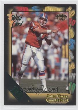 1991 Wild Card - [Base] - 10 Stripe #4 - John Elway