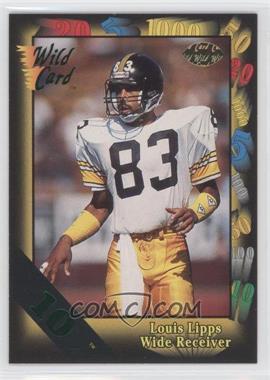 1991 Wild Card - [Base] - 10 Stripe #50 - Louis Lipps