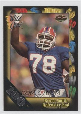 1991 Wild Card - [Base] - 100 Stripe #156 - Bruce Smith