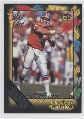 1991 Wild Card - [Base] - 100 Stripe #4 - John Elway