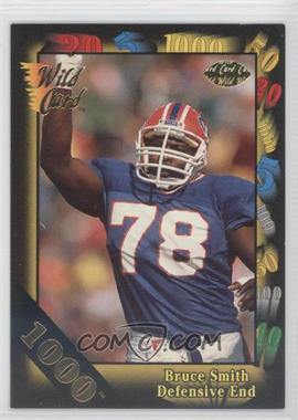 1991 Wild Card - [Base] - 1000 Stripe #156 - Bruce Smith