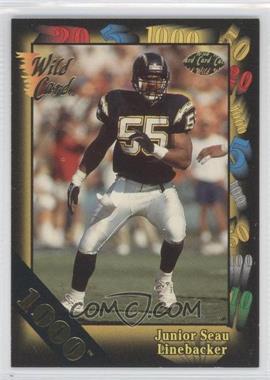 1991 Wild Card - [Base] - 1000 Stripe #38 - Junior Seau
