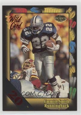 1991 Wild Card - [Base] - 20 Stripe #46 - Emmitt Smith