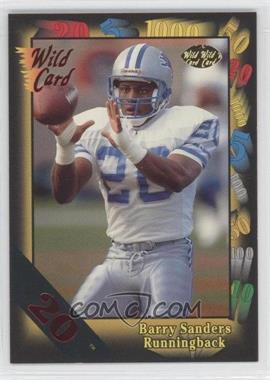 1991 Wild Card - [Base] - 20 Stripe #89 - Barry Sanders