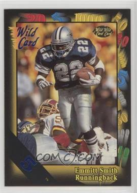 1991 Wild Card - [Base] - 5 Stripe #46 - Emmitt Smith