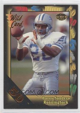 1991 Wild Card - [Base] - 50 Stripe #89 - Barry Sanders
