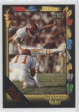 1991 Wild Card - [Base] - 50 Stripe #9 - Nick Lowery
