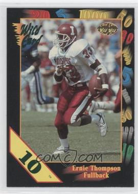 1991 Wild Card Draft - [Base] - 10 Stripe #142 - Ernie Thompson