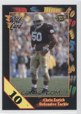 1991 Wild Card Draft - [Base] - 10 Stripe #50 - Chris Zorich