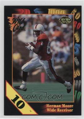1991 Wild Card Draft - [Base] - 10 Stripe #67 - Herman Moore