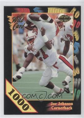 1991 Wild Card Draft - [Base] - 1000 Stripe #155 - Joe Johnson