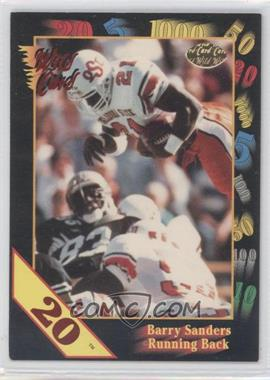 1991 Wild Card Draft - [Base] - 20 Stripe #106 - Barry Sanders