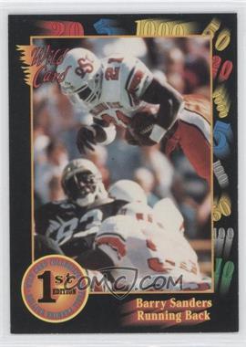 1991 Wild Card Draft - [Base] #106 - Barry Sanders