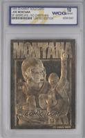 Joe Montana (23K Gold Card Version) [ENCASED]