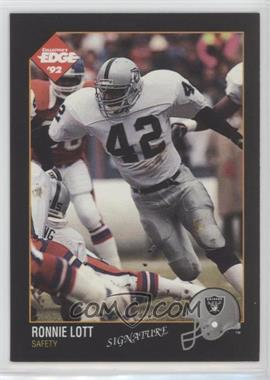 timeless design 47518 cfe6c 1992 Collector's Edge - [Base] #77.2 - Ronnie Lott (Autograph)