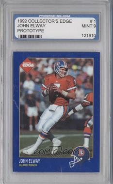 1992 Collector's Edge - Promos #PROTO1 - John Elway [ENCASED]