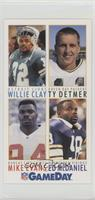 Willie Clay, Ty Detmer, Mike Evans, Ed McDaniel