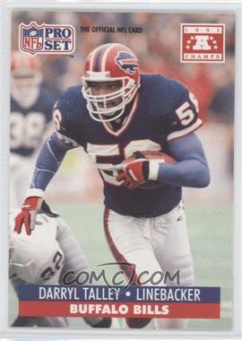 1992 Pro Set NFL Experience - [Base] #56 - Darryl Talley