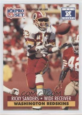 1992 Pro Set NFL Experience - [Base] #684 - Ricky Sanders