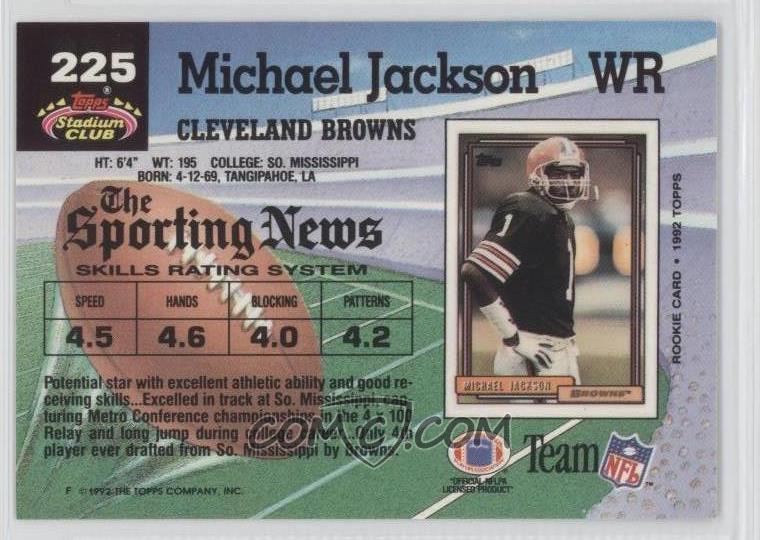 1992 Topps Stadium Club Base 225 Michael Jackson