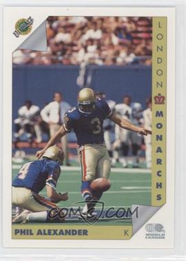 1992 Ultimate World League of American Football - [Base] #73 - Philip Alexander