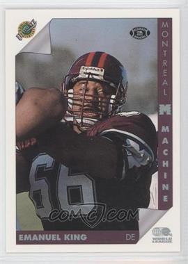 1992 Ultimate World League of American Football - [Base] #89 - Emanuel King
