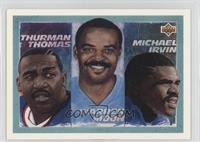 Thurman Thomas, Warren Moon, Michael Irvin