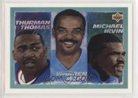 Thurman Thomas, Warren Moon, Michael Irvin