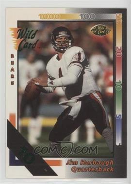 1992 Wild Card - [Base] - 10 Stripe #144 - Jim Harbaugh