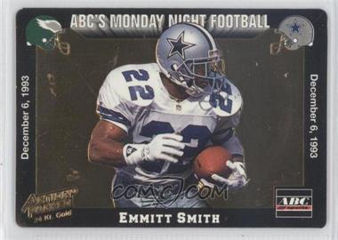 1993 Action Packed Monday Night Football - 24 Kt. Gold #5G - Emmitt Smith