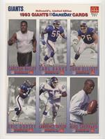 Carlton Bailey, Carl Banks, John Elliott, Eric Dorsey, Lawrence Taylor, Mike Sh…