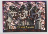Atlanta Falcons Team, Andre Rison, Michael Haynes, Mike Pritchard, Drew Hill