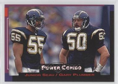 1993 Pro Set Power - Power Combos #3 - Junior Seau, Gary Plummer