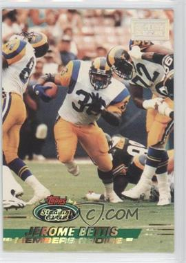 1993 Topps Stadium Club - [Base] - 1st Day Production #506.1 - Jerome Bettis (Stamp on Right)