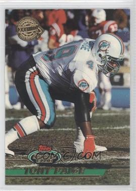 1993 Topps Stadium Club - Super Teams Redeemed - Super Bowl XXVIII #158 - Tony Paige